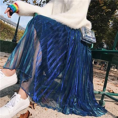 高腰纱裙半身裙