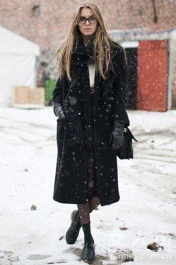冬季潮人出没 最爱欧美街拍