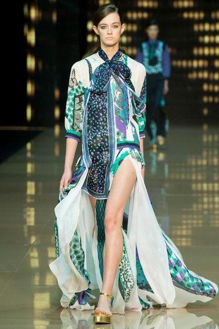 Just Cavalli 2015春夏米兰女装:那根斑斓的丝带