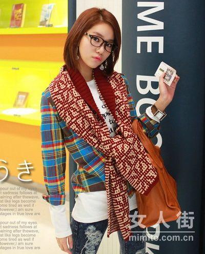 20款格纹衫搭配 感受韩国春季流行