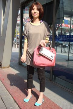 十月上海街拍 街头潮人靓衫